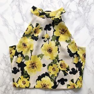 JOA high neck floral top